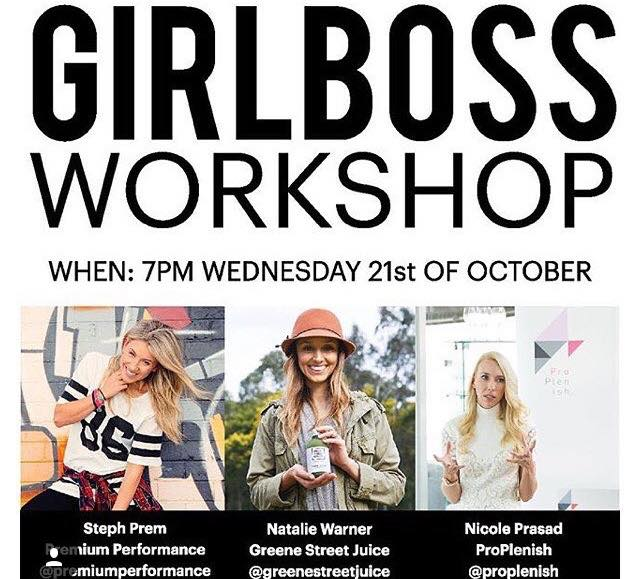 Girlboss Workshop – Steph Prem – CEO/Founder of Premium Performance